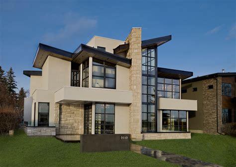 riverview custom homes showhome contemporary exterior calgary  riverview custom homes