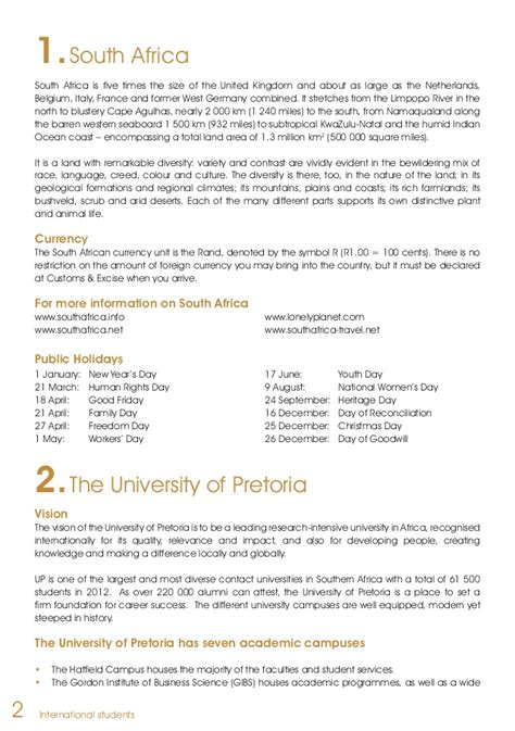 Proof Of Accommodation Letter Uk Of Pretoria International Students Guide 2014