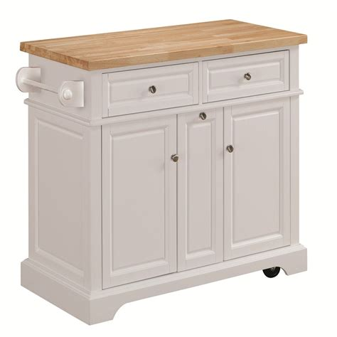 Kitchen Cart by Shop Tresanti Summerville White Adjustable Kitchen Cart At