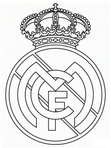 soccer teams real madrid emblem child coloring