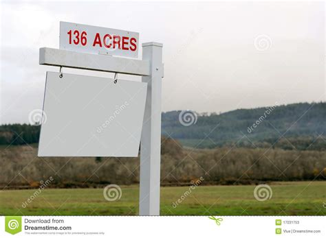 acreages for sale 136 acres of land for sale sign stock image image 17031753