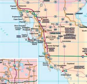 map of florida southwest coast florida road map florida backroads travel has 9 of them