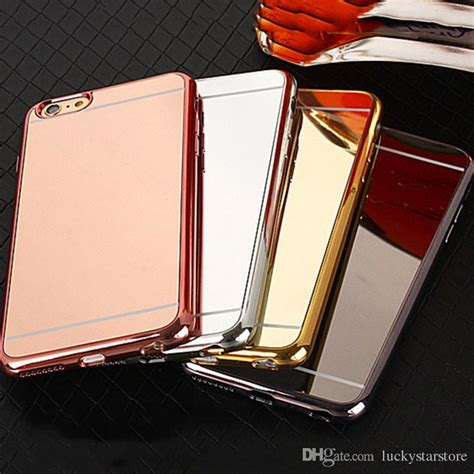 All Type Mirror Bumper Metal Hardcase Clearance Sale luxury mirror gold metal aluminium bumper hybrid phone cover back for iphone 5 6 6s