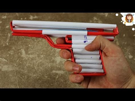 How Do You Make A Paper Gun - how to make a simple airsoft gun paper pistol yourepeat