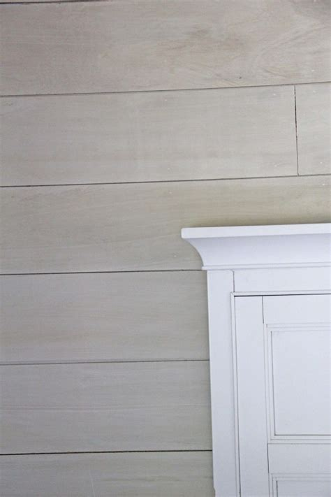 white washed wood plank wall