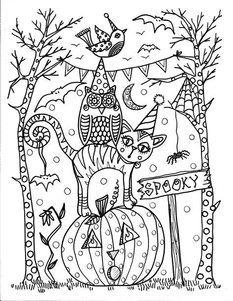 halloween coloring pages pinterest instant download halloween coloring pages 5 от