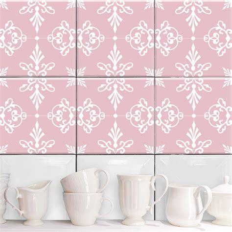 Fliesen Aufkleber Rosa by Janina Rosa Weiss Fliesenaufkleber Set Wand Akzente