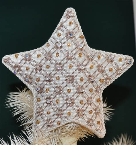 patterns for christmas tree toppers whimsy grace needlepoint star tree topper beautiful