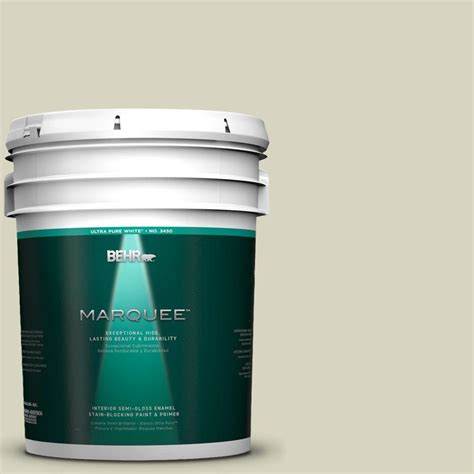 behr marquee 5 gal hdc sm14 9 thin mint semi gloss enamel interior paint 345005 the home depot
