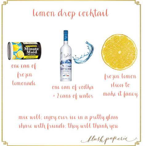 lemon drop martini png lemon drop cocktail recipe blush paperie