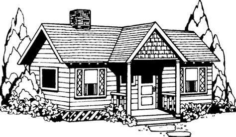 black and white home best house clipart coloring black white 29978