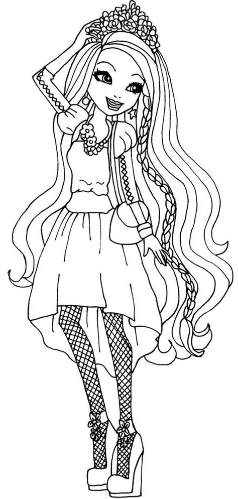 ever after high coloring pages darling charming top 10 ever after high coloring pages