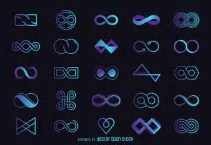 Infinity Qc Infinity Logo Template Set Free Vector