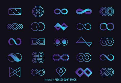 infinity logo template set vector download