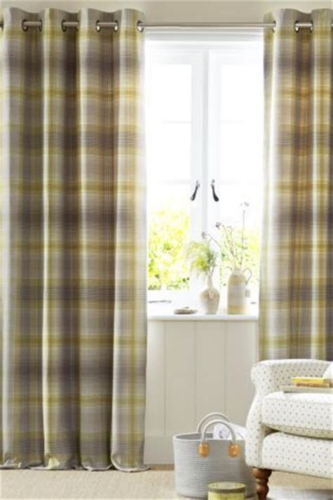next online curtains buy cosy check eyelet curtains from the next uk online