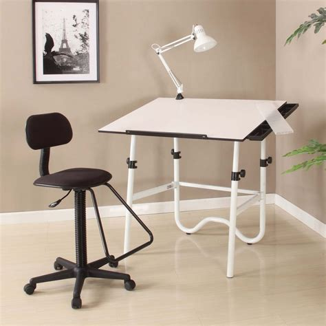Drafting Table Chairs Drafting Table And Chair Set Martin Black Creation Station Drafting Table Chair L 1sale