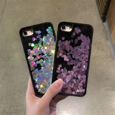 Softcase Spotlite Copper Jelly Iphone 7 hologram liquid glitter cases color options my