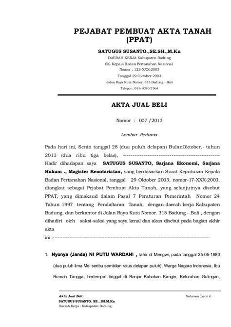 format surat kuasa jual notaris contoh surat kuasa akta notaris hontoh