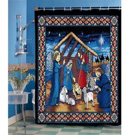 religious shower curtains com silent night christmas shower curtain holy