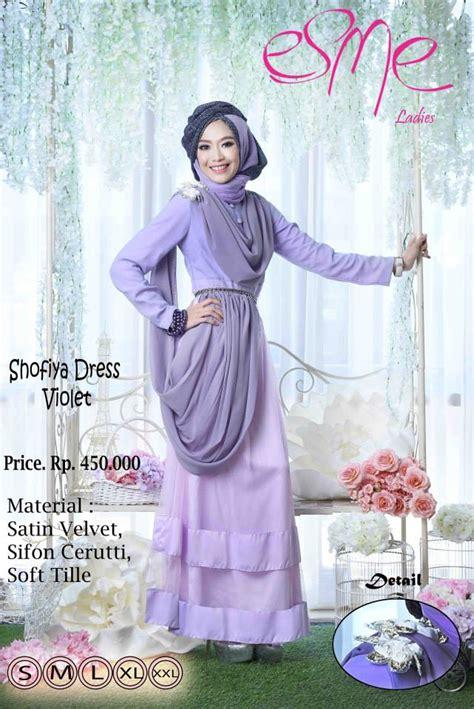 Gamis Dress Baju Muslimah Violet Ummina esme shofiya dress violet baju muslim gamis modern