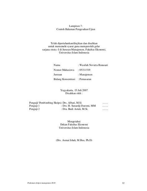format penulisan skripsi uii penulisan skripsi s1 manajemen uii