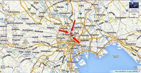 map of tokyo detail tokyo dome city location map