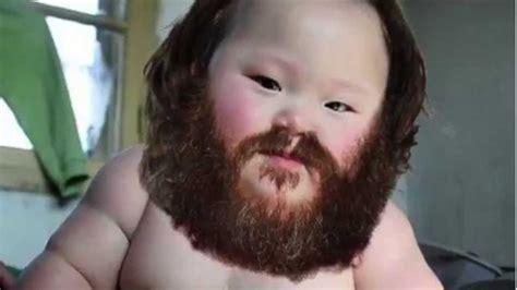 baby with a beard