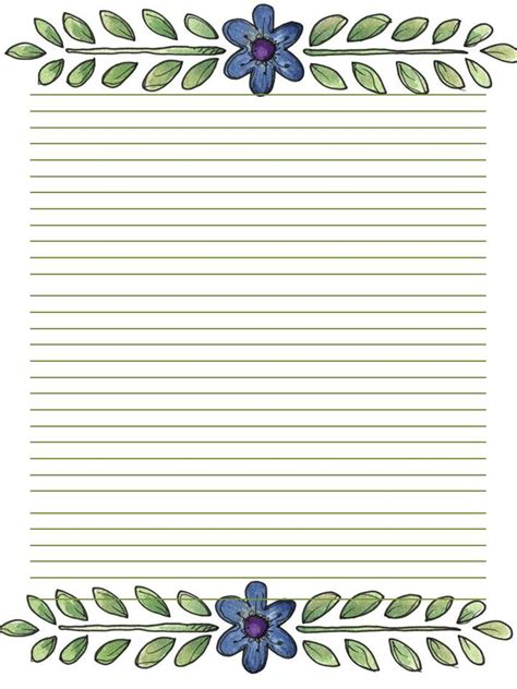 lined paper with empty border printable stationary journal page letter borders