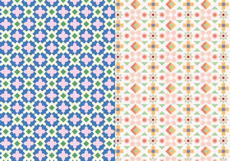 mosaic pattern vector decorative mosaic pattern download free vector art