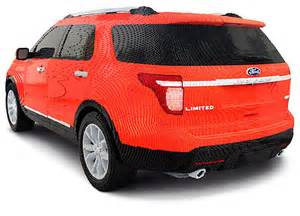 Lego Ford Lego Ford Explorer Made From 382 000 Bricks Technabob