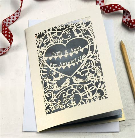 Laser Print Wedding Invitations by Personalised Papercut Wedding Invitation By Pogofandango