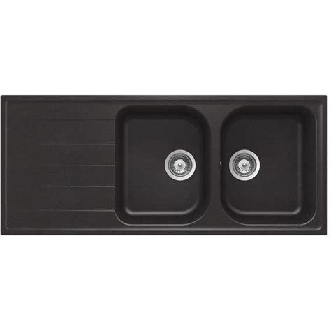 Evier 2 Bacs Granit Noir by 201 Vier Granit Noir Schock Viola 2 Bacs 1 233 Gouttoir