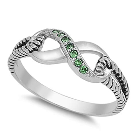 ebay infinity ring infinity ring new 925 sterling silver rope band ebay