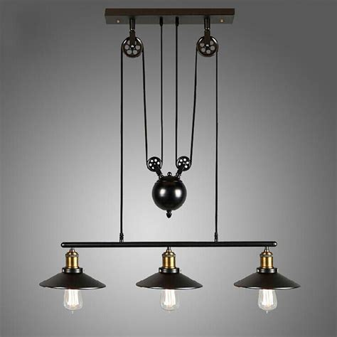 Pendent Light Fixtures Loft Vintage Pulley Pendant Ceiling Light Hanging L Artistic Lighting Fixture Ebay