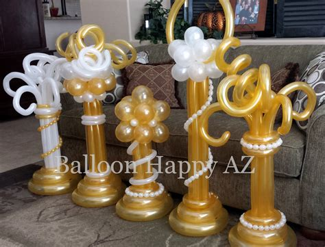 white and gold table decorations balloon centerpieces balloon flowers