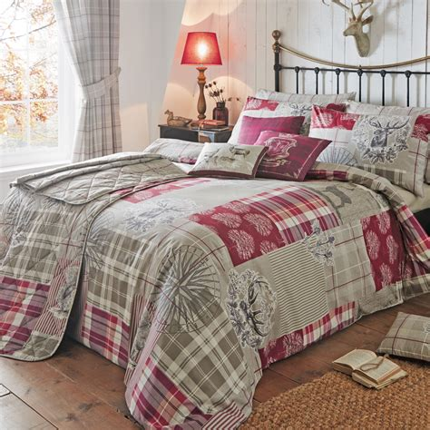 Patchwork Duvet Set - country tartan patchwork duvet cover set with plaid check