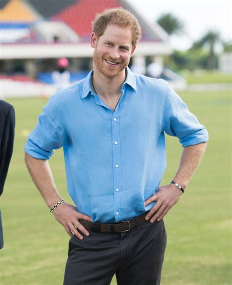 prince harry prince harry in antigua as pm gaston brown refers to
