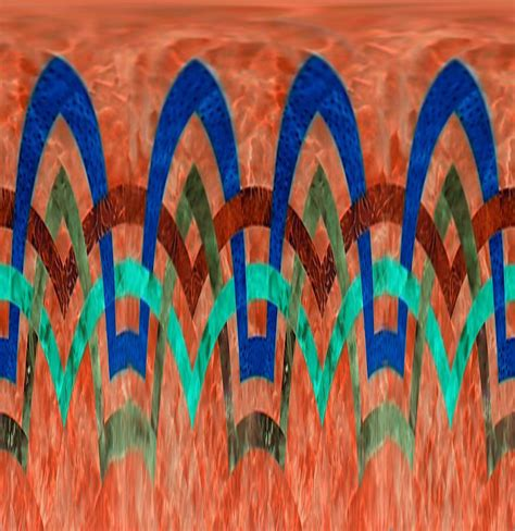 zig zag pattern painting zig zag pattern on orange by barbara griffin