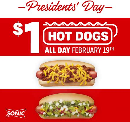 sonic 1 dogs sonic drive in 1 dogs tomorrow february 19
