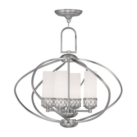 Westfield Lighting by Shop Livex Lighting Westfield 22 In 4 Light Brushed Nickel