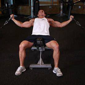incline bench flyes incline cable flye exercise guide and video