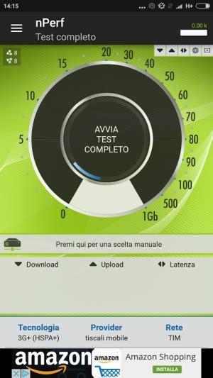 speed test mobile velocit 224 e copertura della connessione