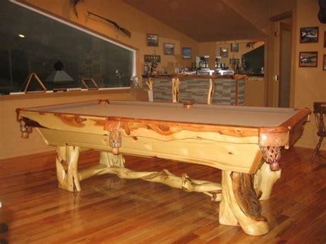 wood pool table custom juniper wood pool tables by toby j s llc