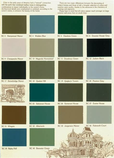 paint colors charts and house on