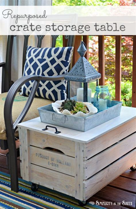 creating extra seating space with repurposed wooden chest hometalk repurposed wooden shipping crate table shipping crates