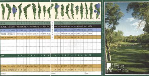 turkey creek golf course lincoln turkey creek gc actual scorecard course database