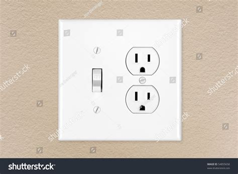 modern wall outlets brand new modern electrical toggle light stock photo