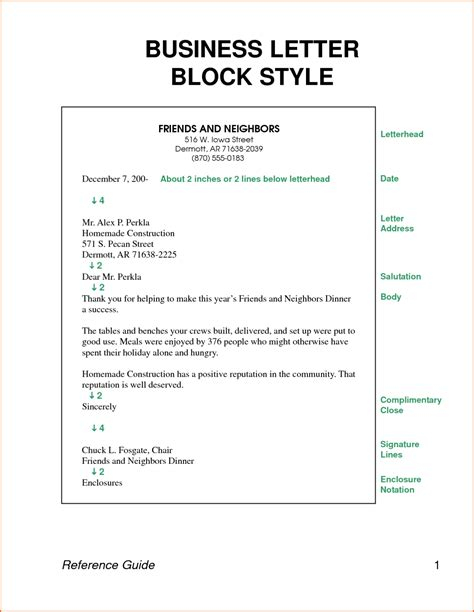 structural layout of a business letter business letter format sle template
