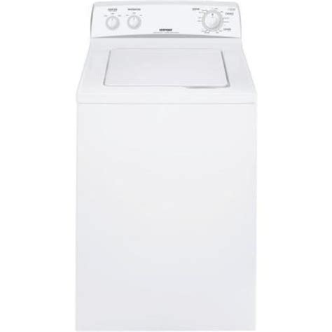 hotpoint 3 6 doe cu ft top load washer in white