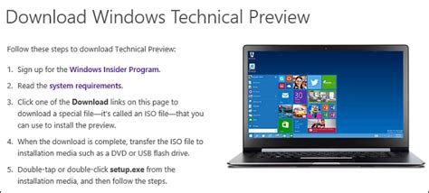 unable to install windows 10 technical preview 64 bit become a windows insider to test windows 10 preview builds
